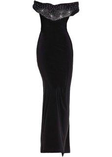 Платье со стразами (черный) Bonprix