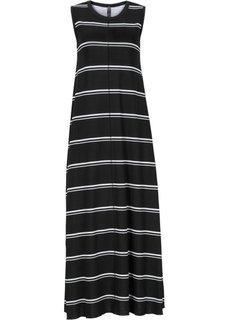 Трикотажное платье (черный/белый в полоску) Bonprix