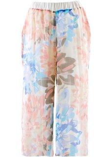 Шифоновые брюки длины 3/4 (светлый персиковый/лососевый с рисунком) Bonprix