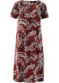Платье из вискозы (красный каштан в цветочек) Bonprix