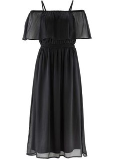 Шифоновое платье с принтом (черный) Bonprix