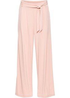 Широкие брюки с поясом (винтажно-розовый) Bonprix