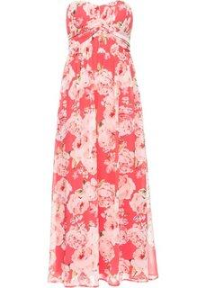 Длинное шифоновое платье (нежный ярко-розовый в цветочек) Bonprix