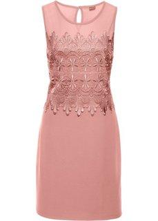 Платье с кружевной отделкой (нежно-коралловый) Bonprix