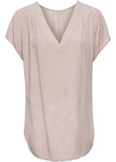 Сатиновая блузка (розовый) Bonprix