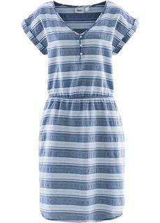 Платье (синий/белый в полоску) Bonprix