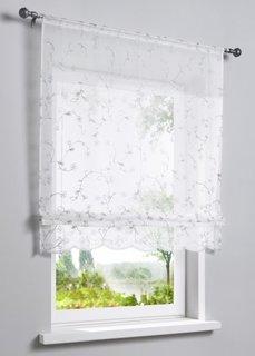 Римская штора Яра (белый/серый) Bonprix