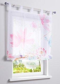 Римская штора Цветы, петли (ярко-розовый) Bonprix