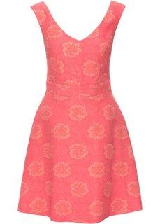 Жаккардовое платье (нежный ярко-розовый) Bonprix