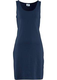 Трикотажное платье стретч (темно-синий) Bonprix