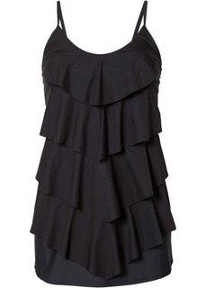 Купальник-платье, моделирующий фигуру (черный) Bonprix