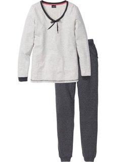 Пижама (натуральный меланж/антрацитовый меланж) Bonprix