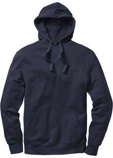 Толстовка стандартного прямого кроя regular fit с капюшоном (темно-синий) Bonprix