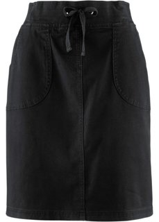 Эластичная юбка-карандаш (черный) Bonprix