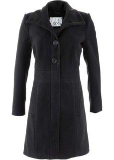 Короткое пальто на пуговицах (черный) Bonprix