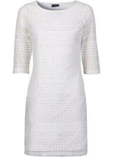 Платье с кружевом (цвет белой шерсти) Bonprix