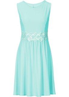 Платье с кружевной вставкой (мятный пастельный) Bonprix