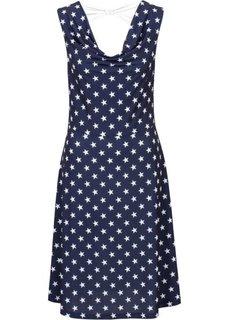 Платье (темно-синий/белый с рисунком) Bonprix