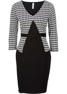 Офисное платье (черный/белый) Bonprix