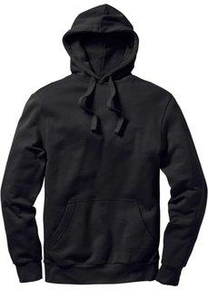 Толстовка стандартного прямого кроя regular fit с капюшоном (черный) Bonprix