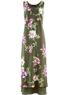 Платье (оливковый в цветочек) Bonprix