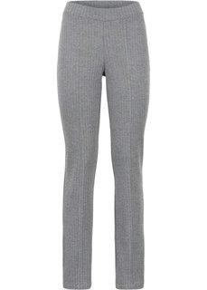 Эластичные жаккардовые брюки (цвет белой шерсти/черный в «елочку») Bonprix
