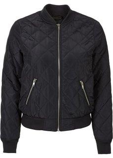 Куртка со стеганым узором (черный) Bonprix