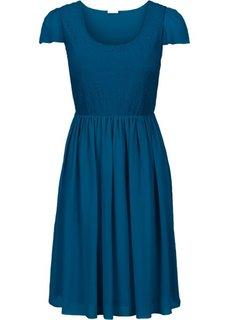 Платье с пайетками (атлантический синий) Bonprix