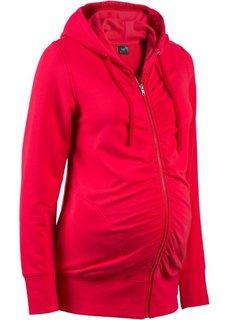 Трикотажный анорак для будущих мам (красный) Bonprix