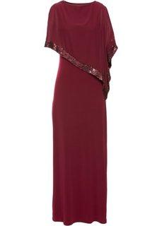 Платье с пайетками (красный) Bonprix