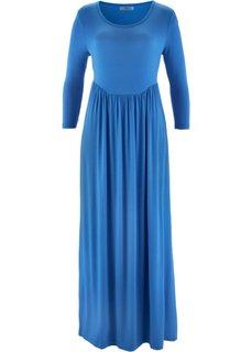 Трикотажное платье с рукавом 3/4 (ледниково-синий) Bonprix
