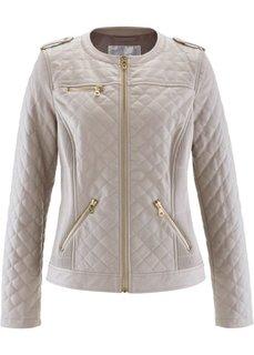 Куртка из искусственной кожи со стегаными швами (натуральный камень) Bonprix