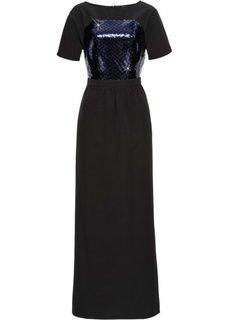 Платье с пайетками Marcell von Berlin for bonprix (черный)