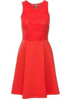 Платье из материала под неопрен (красный) Bonprix