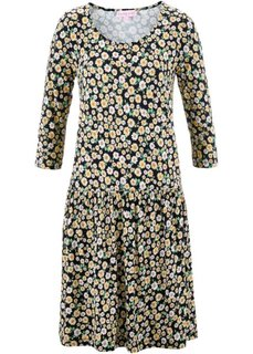 Платье в цветочек дизайна Maite Kelly (черный в цветочек) Bonprix