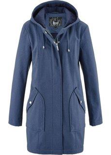 Куртка-парка из материала софтшелл (меланжевый индиго) Bonprix