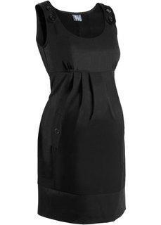 Деловая мода для беременных: платье в клетку (черный) Bonprix