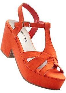 Босоножки на платформе (оранжевый) Bonprix
