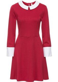 Платье (темно-красный/белый) Bonprix
