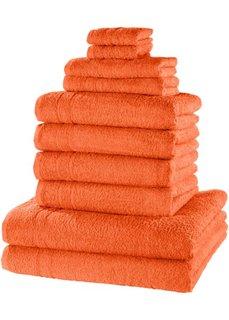 Комплект полотенец Нью Уни Делкюс (10 шт.) (оранжевый) Bonprix
