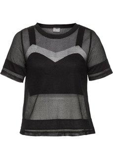 Топ и футболка (2 изд.) (черный) Bonprix