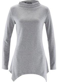 Свитшот с удлиненными боковыми краями (светло-серый меланж) Bonprix
