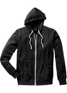 Трикотажная куртка традиционного прямого покроя (черный) Bonprix