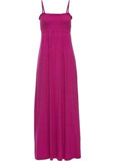 Платье в пол с присобранным лифом (нежная фуксия) Bonprix