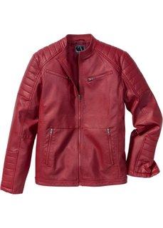 Куртка из искусственной кожи (красный) Bonprix