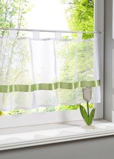 Кухонная штора Элли, петли (зеленый) Bonprix