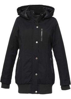 Куртка-парка с капюшоном (черный) Bonprix