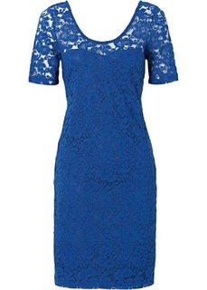 Кружевное платье-футляр (кобальтовый) Bonprix