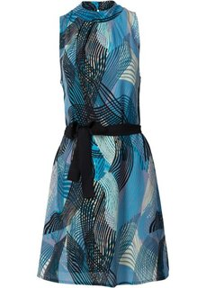 Платье (черный/синий с рисунком) Bonprix