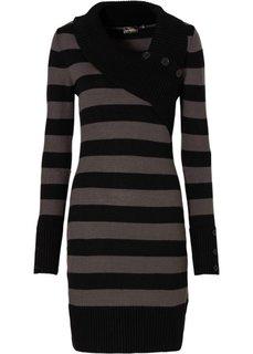 Платье (черный/серый меланж) Bonprix